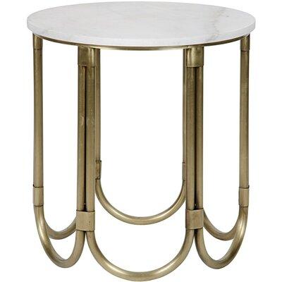 Davina End Table Color: Antique Brass