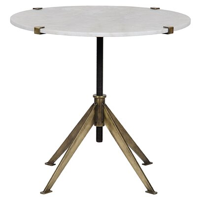 Edith End Table Color: Antique Brass