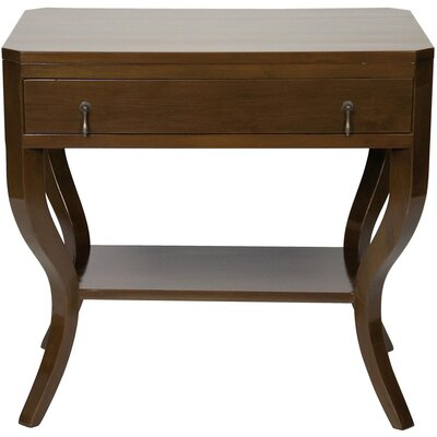 Weldon End Table with Storage Color: Distressed Brown