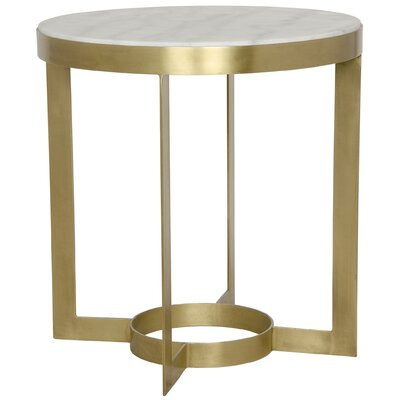 Parker End Table Color: Antique Brass