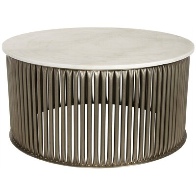 Lumiere Coffee Table Color: Antique Silver