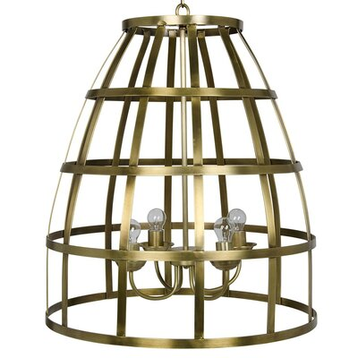 Birdcage 4-Light LED Foyer Pendant