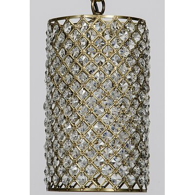 1-Light Mini Pendant Finish: Antique Brass