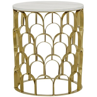 Mina End Table Color: Antique Brass
