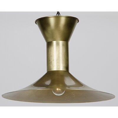 1-Light Inverted Pendant Finish: Antique Brass