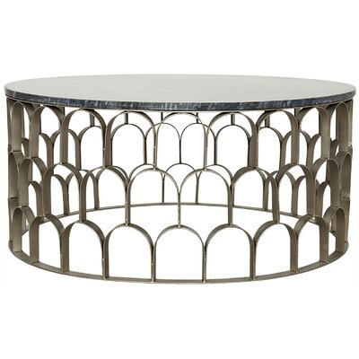 Mina Stone/Metal Coffee Table