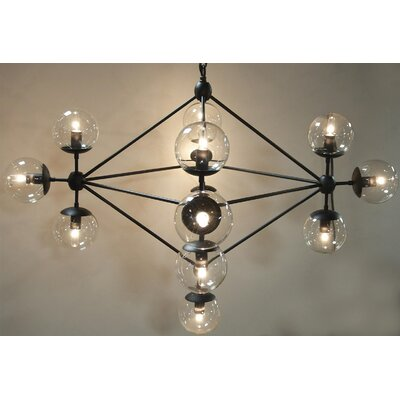 Pluto 13-Light Sputnik Chandelier
