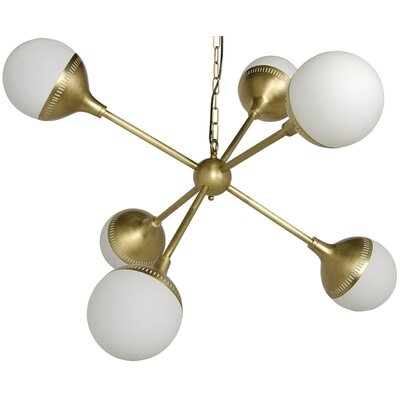 Zoe 6-Light Sputnik Chandelier Size: 22 H x 32 W x 32 D
