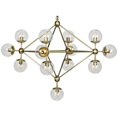 Pluto Metal 20-Light Sputnik Chandelier