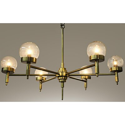 Leslie Metal 6-Light Sputnik Chandelier