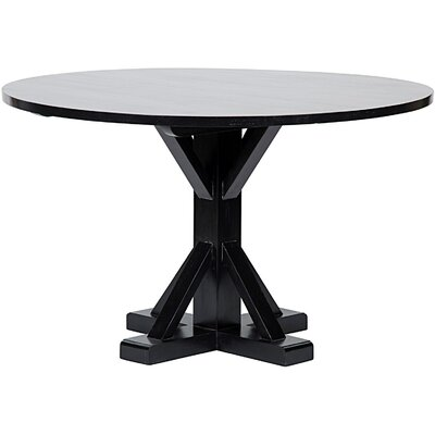 Criss-Cross Round Dining Table Size: 30 H x 48 W x 48 D