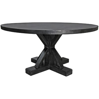 Criss-Cross Round Dining Table Size: 30 H x 60 W x 60 D