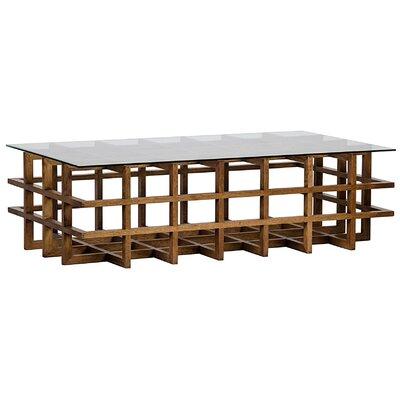 Aldrich Walnut/Glass Coffee Table