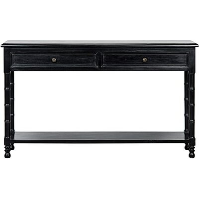 Bamboo Console Table Finish: Hand Rubbed Black