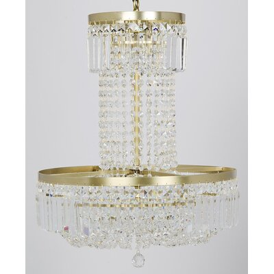 St. Petersburg Metal 8-Light Crystal Chandelier