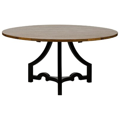 Bran Metal Base/Walnut Top Dining Table
