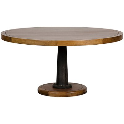 Yacht Dining Table with Cast Pedestal Size: 30.5 H x 60 W x 60 D