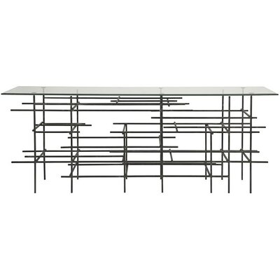 Uptown Metal/Glass Console Table