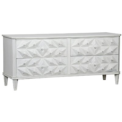 Giza 4 Drawer Double Dresser Color: Weathered White