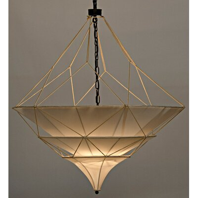 Dynasty 4-Light Candle-Style Chandelier Size: 44 H x 35.5 W x 35.5 D
