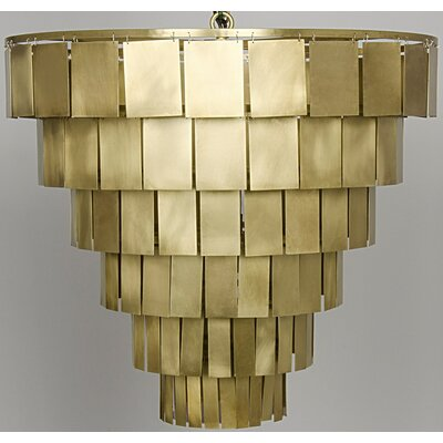 Shield Metal 4-Light Empire Chandelier