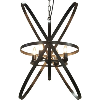 6-Light Geometric Pendant Finish: Bronze