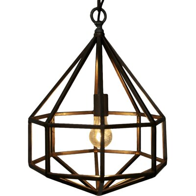 Diamond 1-Light Foyer Pendant Size: Small