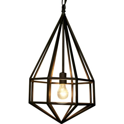 Diamond 1-Light Foyer Pendant Size: Large