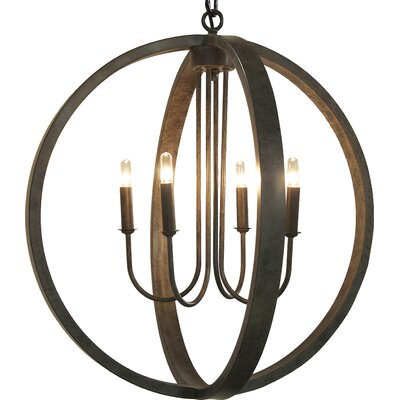 Abel 4-Light Globe Pendant