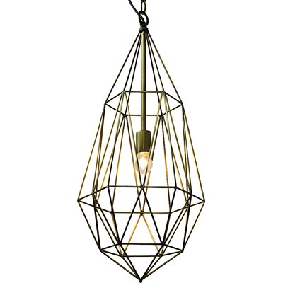 Point 1-Light Geometric Pendant