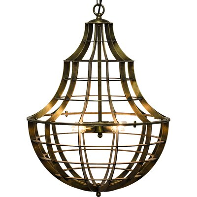 Ribcage 4-Light Foyer Pendant
