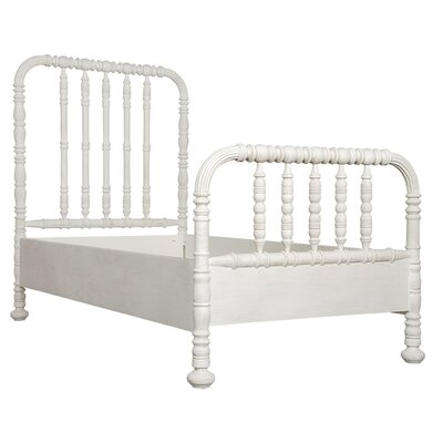 Bachelor Panel Bed Size: King, Finish: White Wash