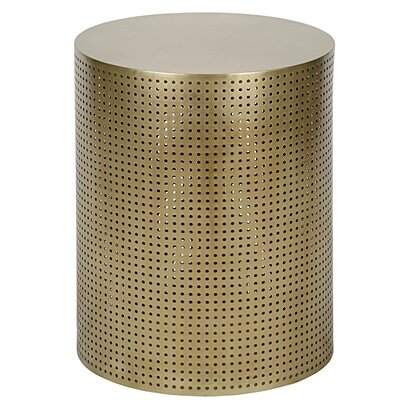 Dixon Metal End Table Finish: Brass