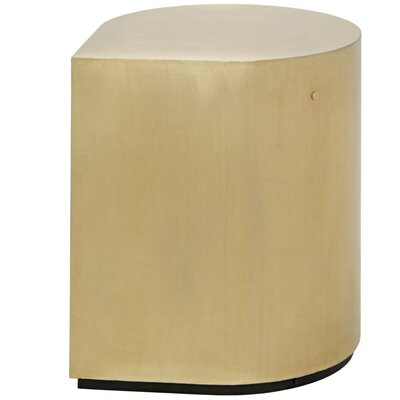 Drop Metal End Table Finish: Brass