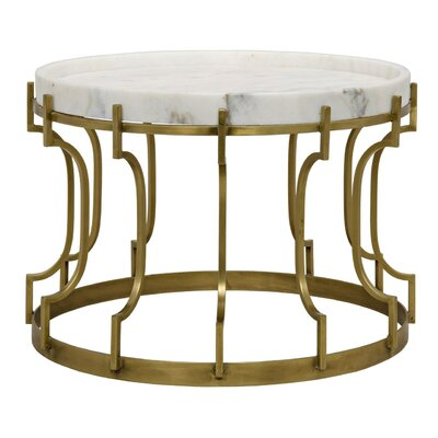 Corum Metal Coffee Table with Tray Top