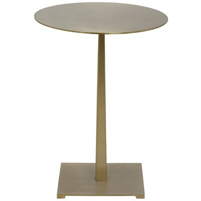 Stiletto Metal End Table Finish: Antique Brass