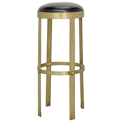 Prince Leather Bar Stool