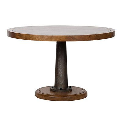 Yacht Dining Table with Cast Pedestal Size: 30 H x 48 W x 48 D