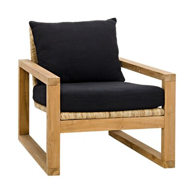 Martin Teak with Hand-Woven Fabric Armchair