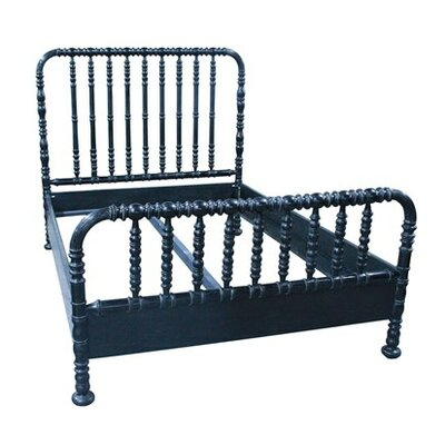 Bachelor Panel Bed Finish: Hand Rubbed Black, Size: Twin