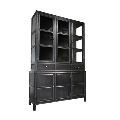 Colonial China Cabinet Finish: Hand Rubbed Black