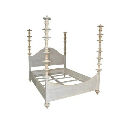 Ferret Four Poster Bed Size: Queen, Color: White Wash