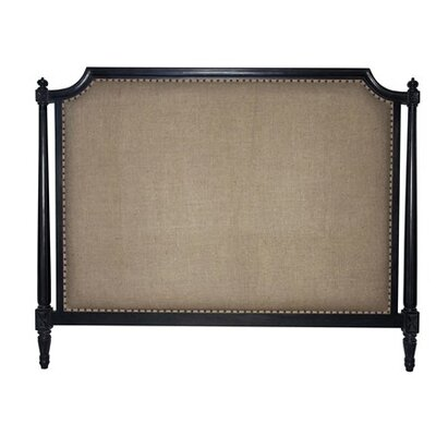 Isabelle Upholstered Panel Headboard Finish: Hand Rubbed Black, Size: King