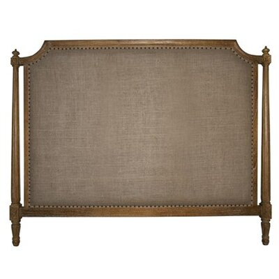 Isabelle Upholstered Panel Headboard Finish: Gray Wash, Size: California King