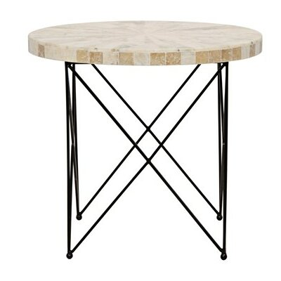Morcheeba End Table with Petrified Wood Top