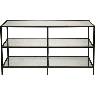 3 Tier Metal/Glass Console Table