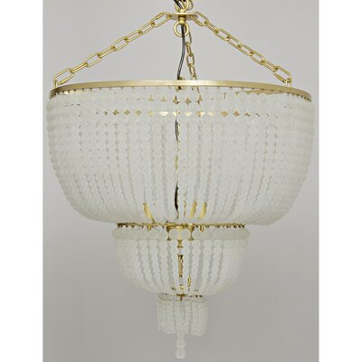 Karenina Metal 3-Light Crystal Chandelier