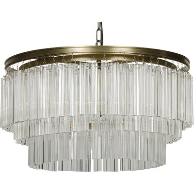 Deco 3-Light Crystal Chandelier
