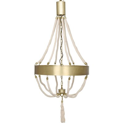 Alec 8-Light Shaded Chandelier Finish: Antique Brass