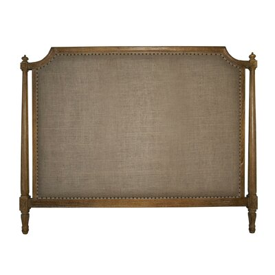 Isabelle Upholstered Panel Headboard Size: Queen, Color: Gray Wash